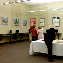 Visitors at Wessels Library Gallery