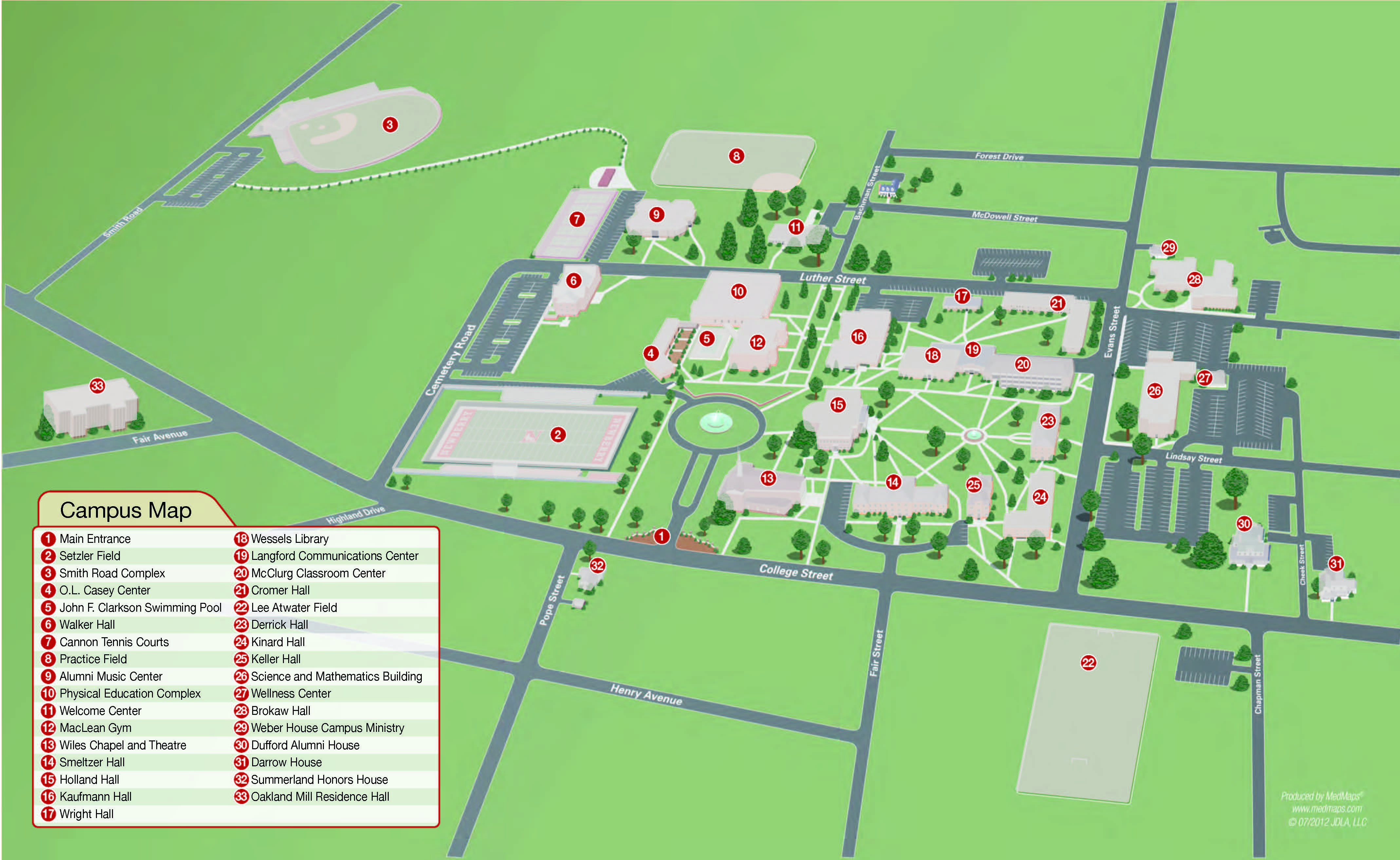 Alcorn State University Campus Map.Newberry College Pre Veterinary Medicine