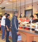 Students at Kaufmann Dining Hall
