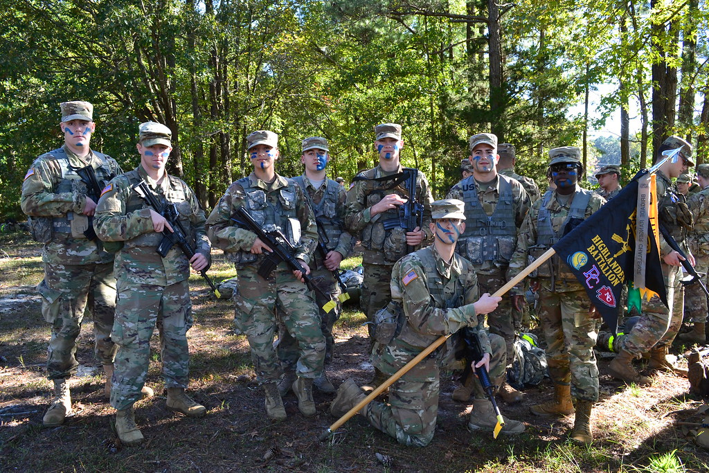 Newberry College ROTC cadets at 2018 Ranger Challenge.