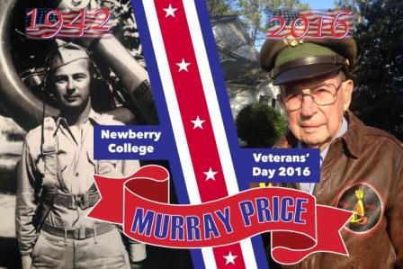 Murray Price Newberry College Veterans' Day 2016