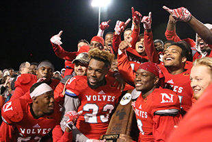 Newberry Wolves football players
