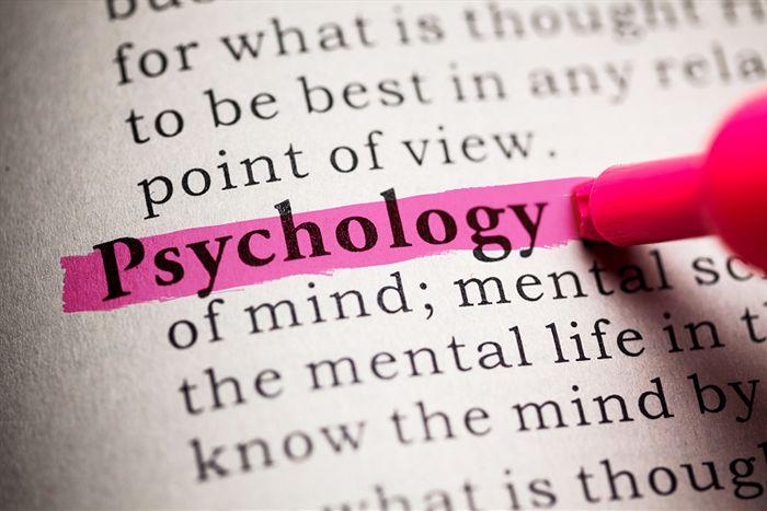 Psychology students studying